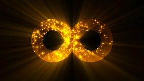Fondo abstracto con la muestra futurista del infinito Fondo abstracto colorido metrajes