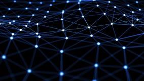 Fondo abstracto con la red de la neurona ilustración del vector