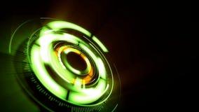 Fondo abstracto con la rotación de la lente verde ilustración del vector