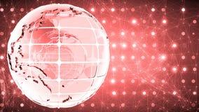Fondo abstracto con la rotación del vidrio del globo Loopable Rojo almacen de video
