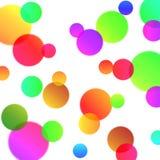 Fondo abstracto con las burbujas mágicas stock de ilustración
