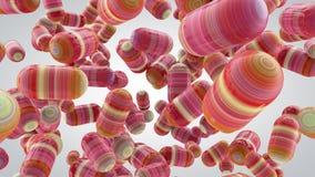 Fondo abstracto con las cápsulas, tabletas, 3D representación, stretc Imagenes de archivo