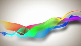 Fondo abstracto con las cintas coloreadas libre illustration