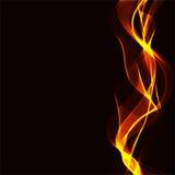 Fondo abstracto con las cintas onduladas de un fuego Foto de archivo