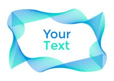 Fondo abstracto con las curvas verdes y azules, marco para su texto Vector libre illustration