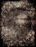 Fondo abstracto con las decoraciones florales Imagenes de archivo
