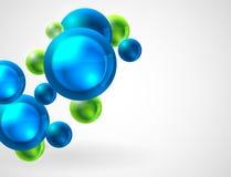 Fondo abstracto con las esferas Imagen de archivo libre de regalías