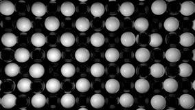 Fondo abstracto con las esferas blancos y negros Imagen de archivo