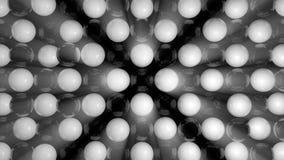 Fondo abstracto con las esferas blancos y negros Foto de archivo