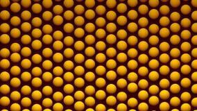 Fondo abstracto con las esferas isométricas en la superficie, representación 3d Imagenes de archivo