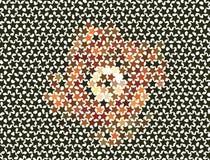 Fondo abstracto con las estrellas Clip art del vector Foto de archivo