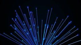 Fondo abstracto con las fibras ópticas representación 3d ilustración del vector
