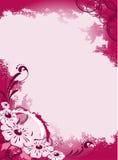 fondo abstracto con las flores Fotografía de archivo libre de regalías