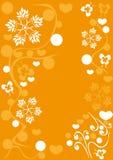 Fondo abstracto con las flores Imagen de archivo libre de regalías