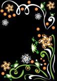 Fondo abstracto con las flores Ilustración del Vector