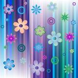 Fondo abstracto con las flores Imágenes de archivo libres de regalías