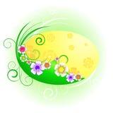 Fondo abstracto con las flores salvajes Imagen de archivo