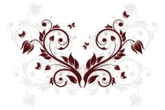 Fondo abstracto con las flores y la mariposa Foto de archivo libre de regalías
