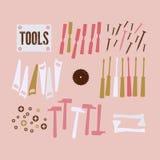 Fondo abstracto con las herramientas Foto de archivo