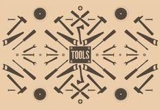 Fondo abstracto con las herramientas Imágenes de archivo libres de regalías