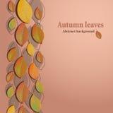 Fondo abstracto con las hojas de otoño Fotos de archivo libres de regalías