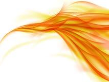 Fondo abstracto con las líneas anaranjadas que conectan junto en blanco Imágenes de archivo libres de regalías