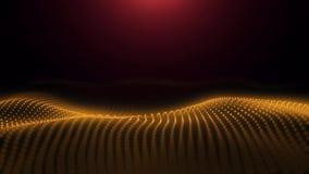 Fondo abstracto con las líneas de color onduladas Movimiento de onda abstracto de la animación Animación del lazo inconsútil almacen de metraje de vídeo
