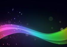 Fondo abstracto con las líneas multicoloras libre illustration