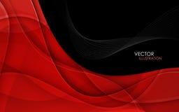 Fondo abstracto con las líneas rojas Vector Fotos de archivo
