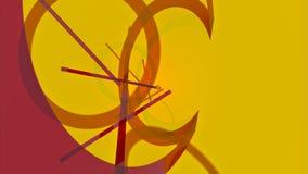 Fondo abstracto con las líneas y los anillos giratorios UHD - 4K 3D-rendering ilustración del vector