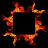 Fondo abstracto con las llamas calientes vivas del fuego Imagenes de archivo
