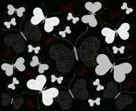 Fondo abstracto con las mariposas stock de ilustración