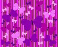 Fondo abstracto con las mariposas Fotografía de archivo libre de regalías