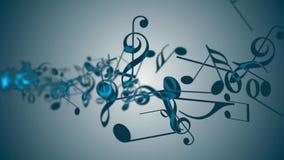 Fondo abstracto con las notas coloridas de la música Lazo inconsútil