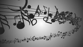 Fondo abstracto con las notas coloridas de la música Lazo inconsútil ilustración del vector