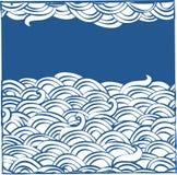 Fondo abstracto con las nubes Fotografía de archivo
