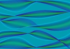 Fondo abstracto con las ondas azules y verdes Vector ilustración del vector