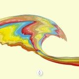 Fondo abstracto con las ondas mosaico vector 3d Imagen de archivo