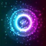Fondo abstracto con las partículas. Imagen de archivo libre de regalías