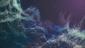 Fondo abstracto con las partículas de la mudanza y del parpadeo En fondo relajante hermoso almacen de metraje de vídeo