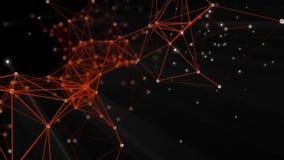 Fondo abstracto con las partículas y las conexiones libre illustration