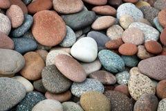 Fondo abstracto con las piedras peeble redondas Imagen de archivo