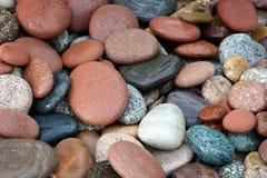 Fondo abstracto con las piedras peeble redondas Fotografía de archivo