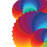 Fondo abstracto con las ruedas del espectro. Fotos de archivo libres de regalías