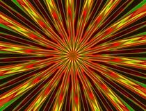 Fondo abstracto con las vigas rojas y verdes stock de ilustración
