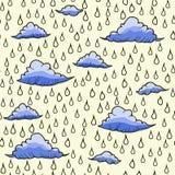 Fondo abstracto con lluvia y la nube Imagen de archivo