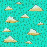 Fondo abstracto con lluvia y la nube Imagen de archivo libre de regalías