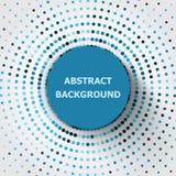 Fondo abstracto con los círculos de semitono Fotografía de archivo