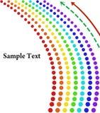 Fondo abstracto con los círculos del arco iris libre illustration