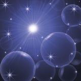 Fondo abstracto con los círculos, estrellas, anillos Foto de archivo
